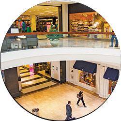 Proiettore interattivo per centri commerciali